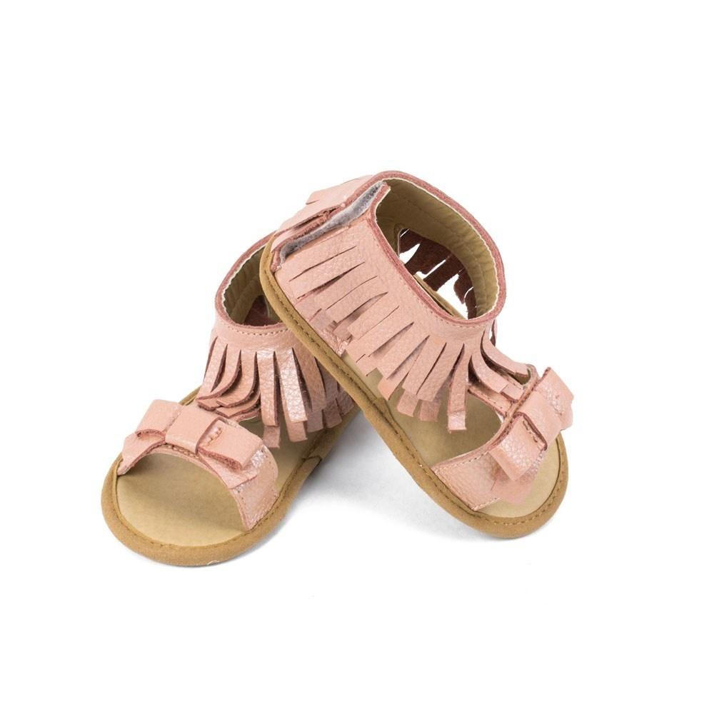 Sandals- Gigi, Light Pink Leather