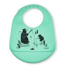 Modern Twist Bucket Bib- Bear Family