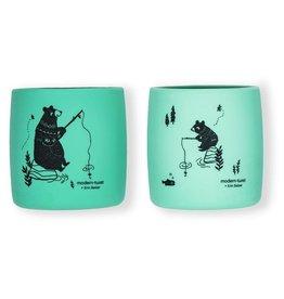 Modern Twist Sip Set- Bear, Mint