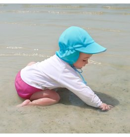 Breathable Sun Flap Hat- Light Aqua