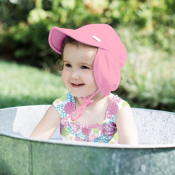 Breathable Sun Flap Hat- Light Pink