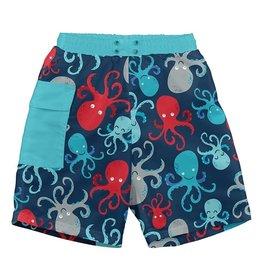 Pocket Trunks- Navy Octopus