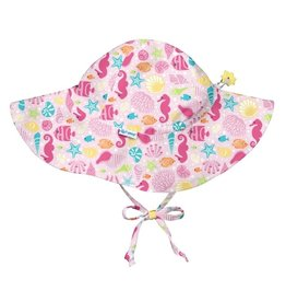 Brim Sun Hat- Hot Pink Sealife