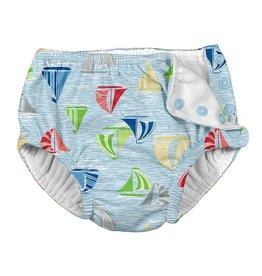 Reusable Swim Diaper- Light Blue Sailboat