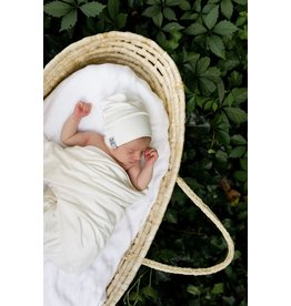 Jacqueline & Jac Natural White Infant Beanie