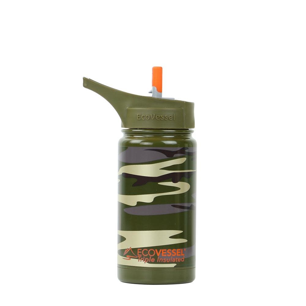 13 oz Insulated Bottle with Flip Straw Top