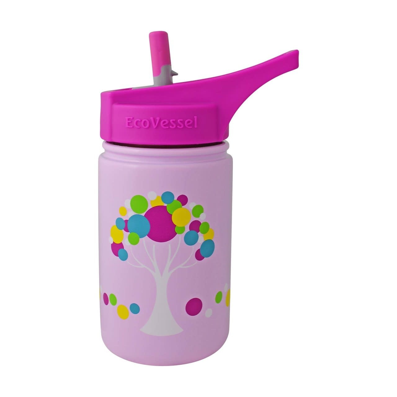13 oz Stainless Steel Bottle with Flip Straw Top