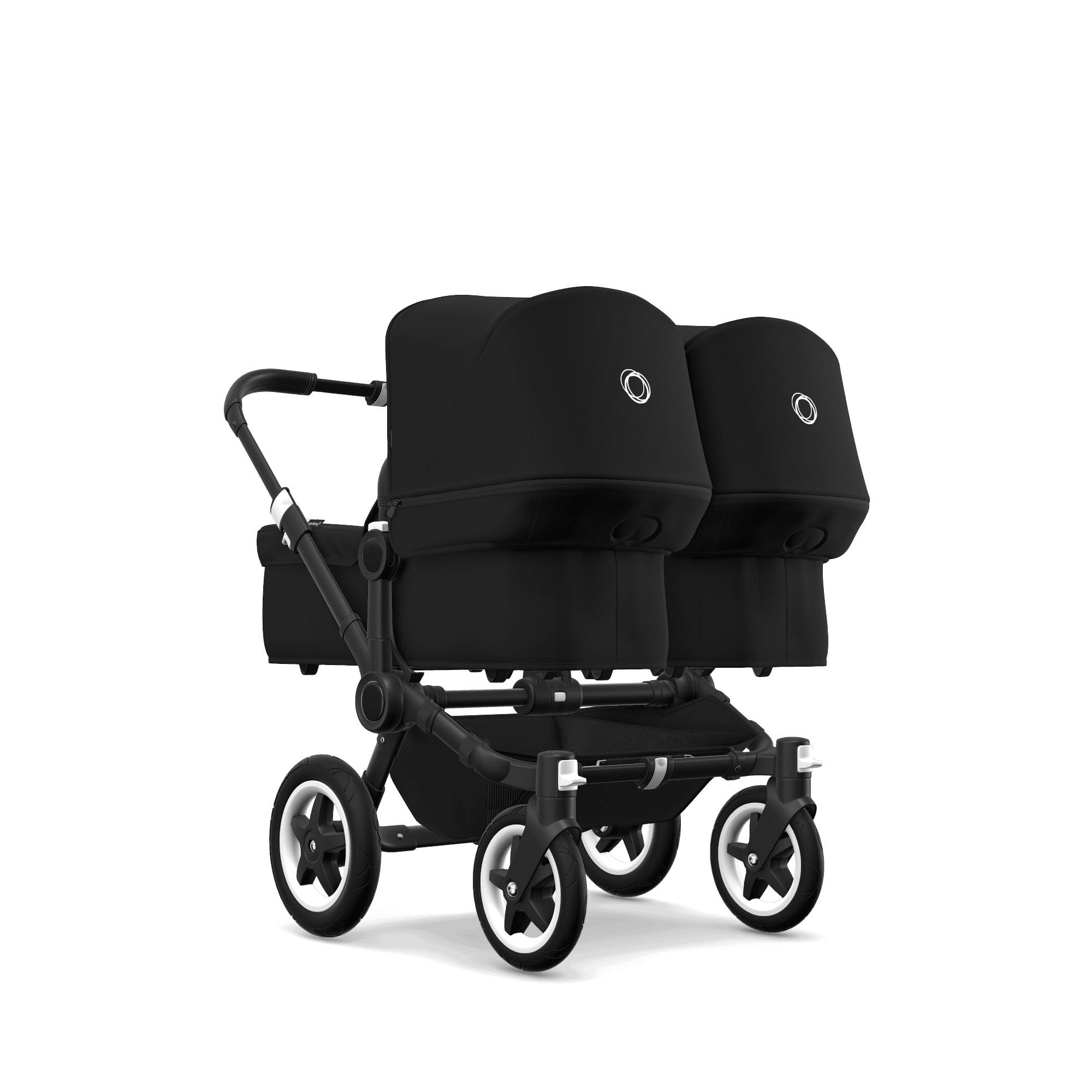 Bugaboo Donkey2 Twin Style Set- Black, Black
