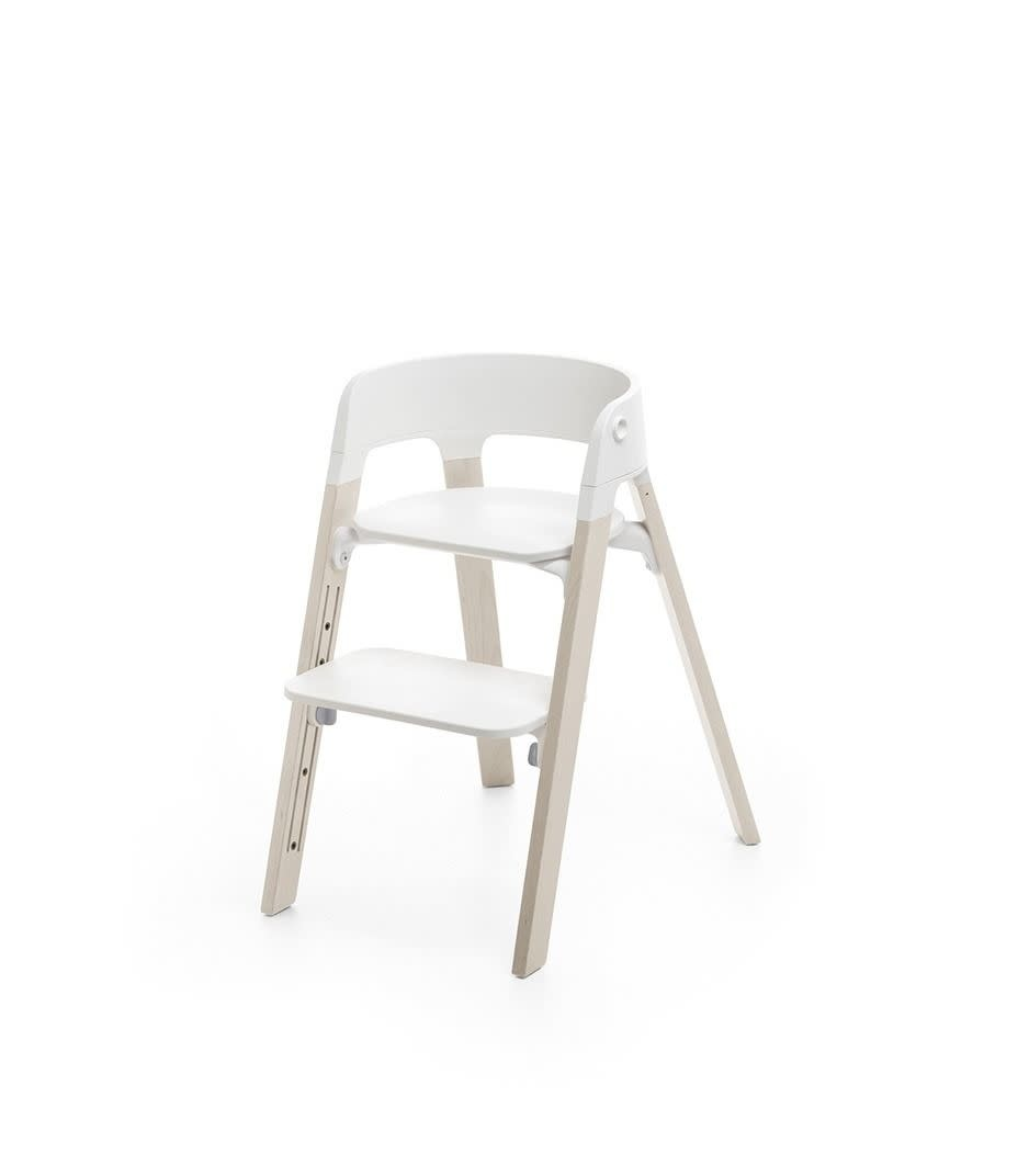 Stokke Steps Chair Beech Wood with White Seat