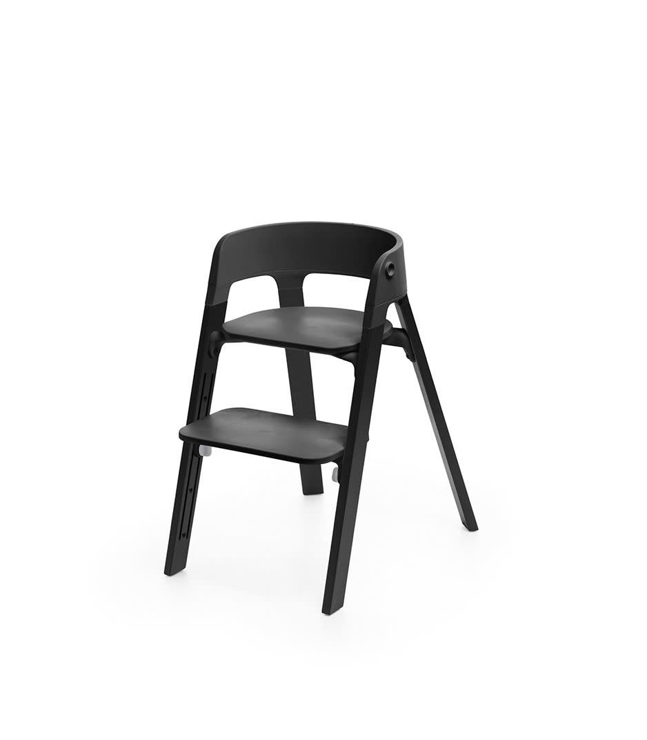 Stokke Steps Chair Oak with Black Seat