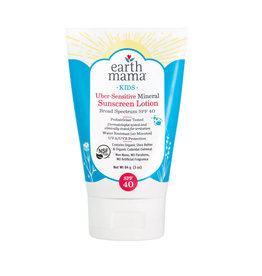 Earth Mama Organics Kids Uber-Sensitive Mineral Sunscreen SPF 40