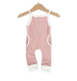 Little Bipsy Tank Stripe Romper- Blush