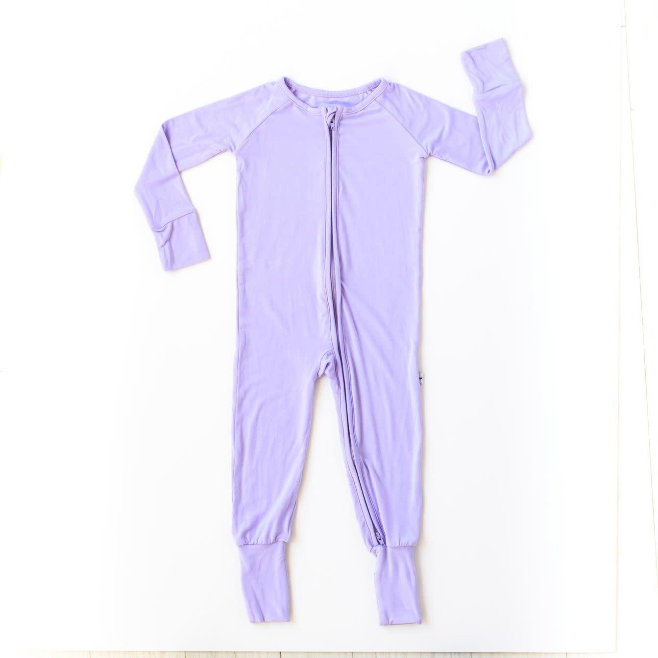 Little Sleepies Zip Romper- Lilac