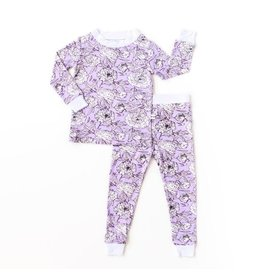 Little Sleepies Two Piece Bamboo Pajama- Peonies