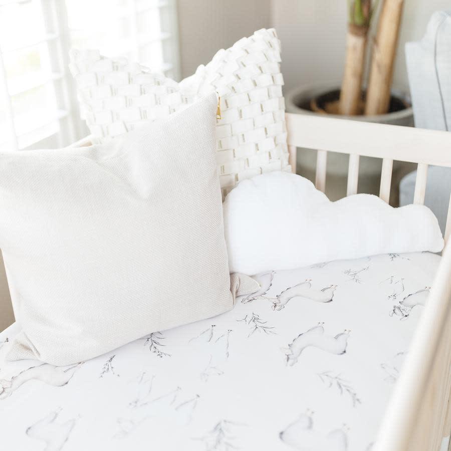 Oilo Llama Jersey Crib Sheet