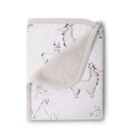 Oilo Llama Jersey Cuddle Blanket