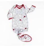 Little Sleepies Infant Knotted Gown- Sleepy Santa Stars
