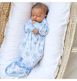 Little Sleepies Infant Knotted Gown- Snowflakes