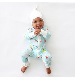 Little Sleepies Zip Romper- Snowman