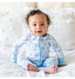 Little Sleepies Zip Romper- Snowflakes