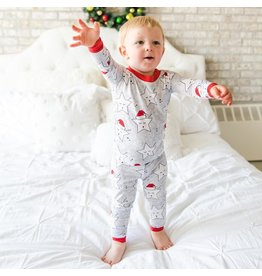 Little Sleepies Two Piece Bamboo Pajama- Sleepy Santa Stars
