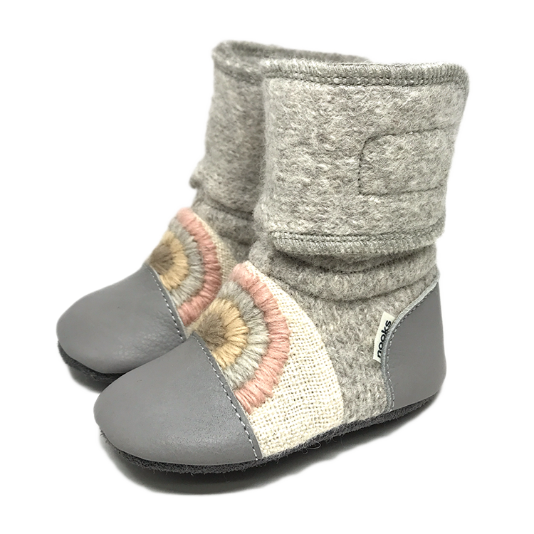 Nooks Designs Rainbow Moon Felted Wool Booties