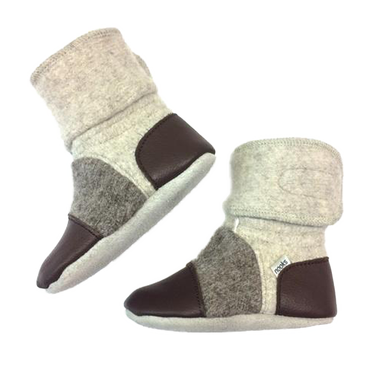 Nooks Designs Driftwood Felted Wool Booties