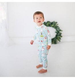 Little Sleepies Two Piece Bamboo Pajama- Snowman