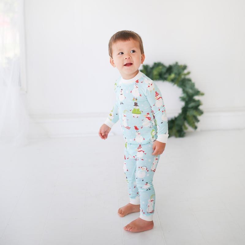 Little Sleepies Two Piece Bamboo Pajama- Snowman