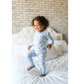 Little Sleepies Two Piece Bamboo Pajama- Snowflakes