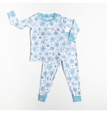 Little Sleepies Two Piece Bamboo Pajama- Snowflakes