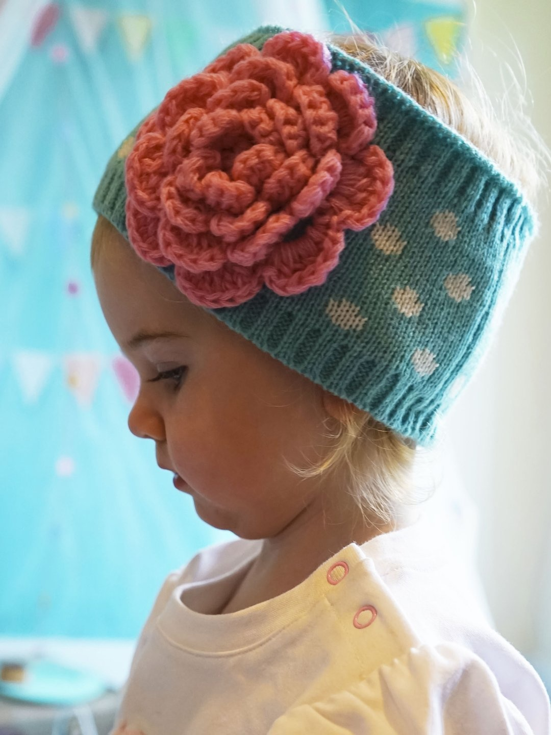 Blade and Rose Flower Earwarmer Headband