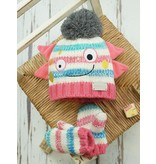 Blade and Rose Messy Monster Bobble Hat and Mitten