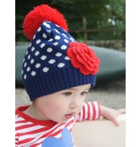 Blade and Rose Navy Spot Bottle Hat