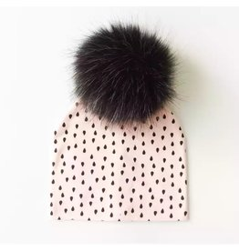 Tiny Trendsetter Pink Rain Pom Beanie Hat