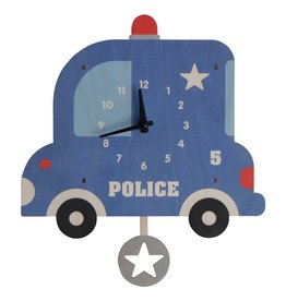 Modern Moose Police Car Pendulum Clock