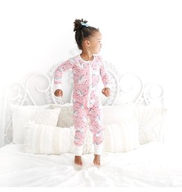 Little Sleepies Zip Romper- Unicorn