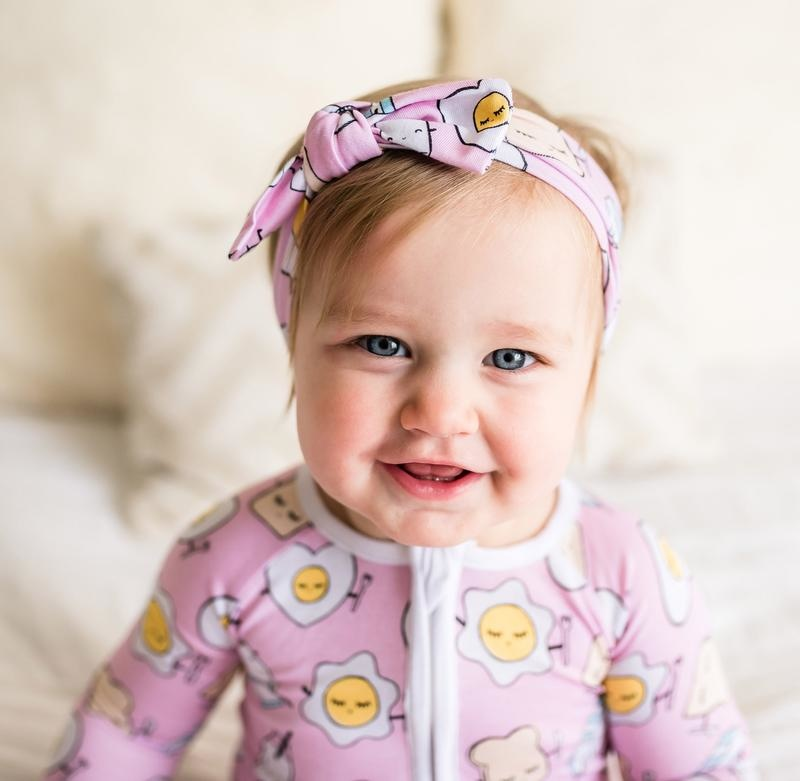 Little Sleepies Zip Romper - Pink Breakfast