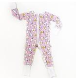 Little Sleepies Zip Romper - Pink Breakfast