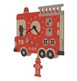 Modern Moose Fire Truck Pendulum Clock
