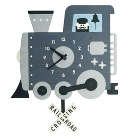Modern Moose Train Pendulum Clock