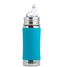 Pura Stainless 11oz Straw Bottle- Aqua