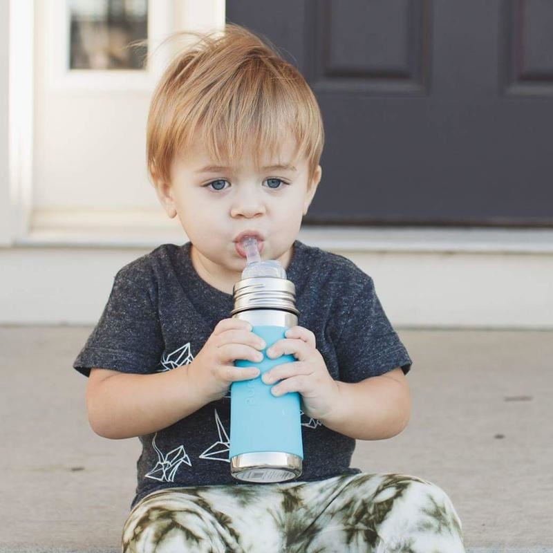 Pura Stainless 11oz Straw Bottle- Aqua
