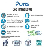 Pura Stainless 5oz Infant Bottle
