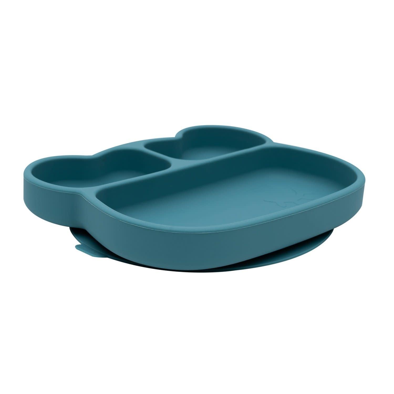 We Might Be Tiny Bear Stickie Plate - Blue Dusk