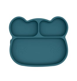 We Might Be Tiny Bear Stickie Plate - Blue Dusk