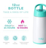 Swig Life 12oz Flip & Sip Bottle- Diamond White