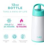 Swig Life 12oz Flip & Sip Bottle- Diamond White