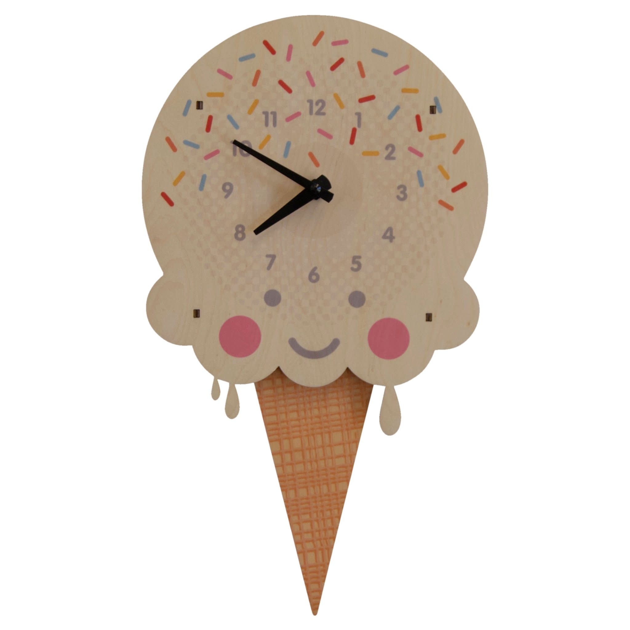 Modern Moose Ice Cream Pendulum Clock
