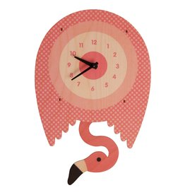 Modern Moose Flamingo Pendulum Clock